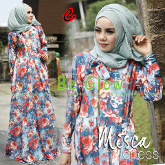 Trend Terbaru Busana Muslim Wanita Misca Dress by Be Glow C
