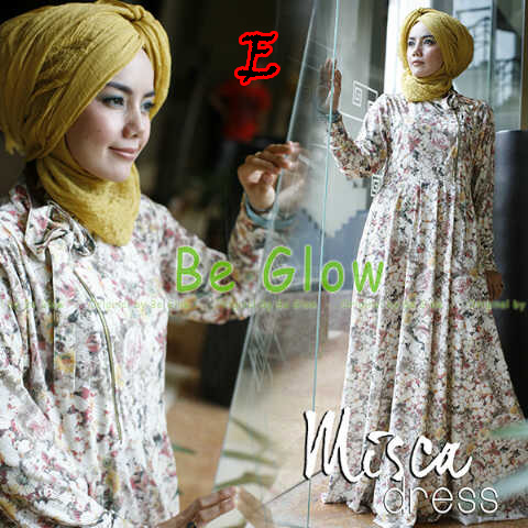 Trend Terbaru Busana Muslim Wanita Misca Dress by Be Glow E