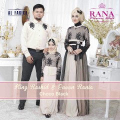 Busana Muslim Sarimbit Terbaru 2015 King Rashid & Queen Rania Choco Black