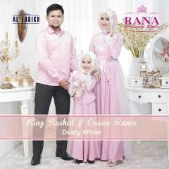 Busana Muslim Sarimbit Terbaru 2015 King Rashid & Queen Rania Dusty White