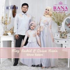 Busana Muslim Sarimbit Terbaru 2015 King Rashid & Queen Rania Silver Salem