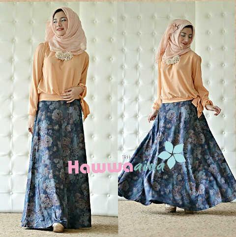 Zara Set Peach Baju Muslim Gamis Modern