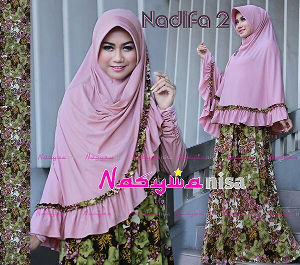 Busana Muslim Syar'i Nadifa by Naswanisa Baby Pink