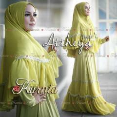 Busana Muslim Syar'i Terbaru 2015 Attheya by Kurnia Kuning