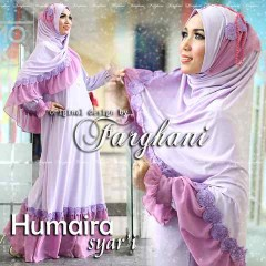 Busana Muslim Syar'i Terbaru Humaira by Farghani Lavender Purple