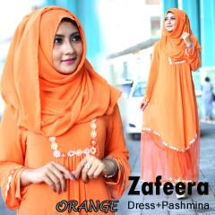 Busana Muslim Syar'i Terbaru Zafeera by Agyna Orange