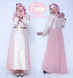Busana Muslim Terbaru Aurora Dress by Rabiya Pink