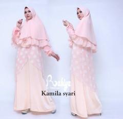 Busana Muslim Terbaru Kamila Syar'i by Rabiya Pink