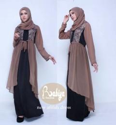 Busana Muslim Terbaru New Afifah Dress by Rabiya Brown