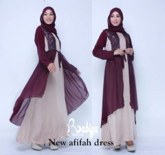 Busana Muslim Terbaru New Afifah Dress by Rabiya Marun