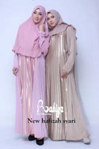 Busana Muslim Terbaru New Hafiah Syar'i by Rabiya Pink & Brown