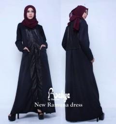 Busana Muslim Terbaru New Ramuna Dress by Rabiya Hitam