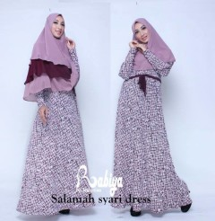 Busana Muslim Terbaru Salmah Syar'i Dress by Rabiya Purple