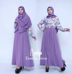 Busana Muslim Terbaru Zamila Dress by Rabiya Purple