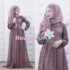 Busana Muslim Trend Terbaru Quentin by Hawwaaiwa Dusty Purple