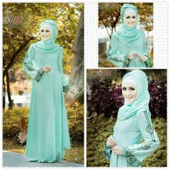 Busana Muslim Wanita Modern Arabia by Fitria Style Hijau Mint