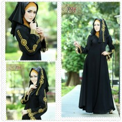 Busana Muslim Wanita Modern Arabia by Fitria Style Hitam
