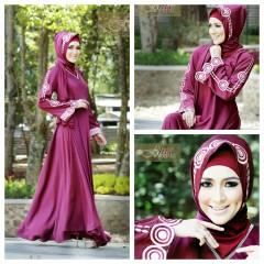 Busana Muslim Wanita Modern Arabia by Fitria Style Maroon