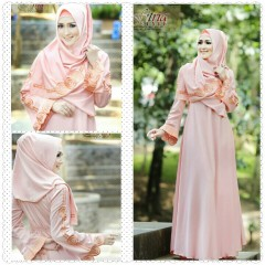 Busana Muslim Wanita Modern Arabia by Fitria Style Peach