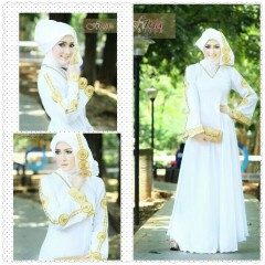 Busana Muslim Wanita Modern Arabia by Fitria Style Putih
