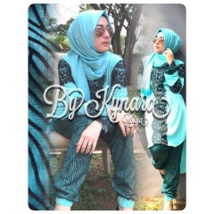 Busana Muslim Wanita Terbaru Qhiya by Kybarra Blue