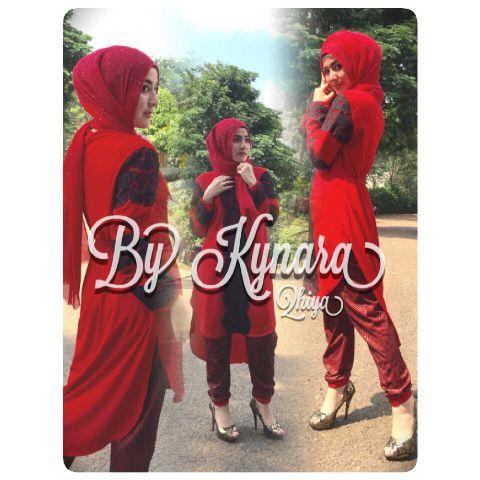 Busana Muslim Wanita Terbaru Qhiya by Kybarra Merah