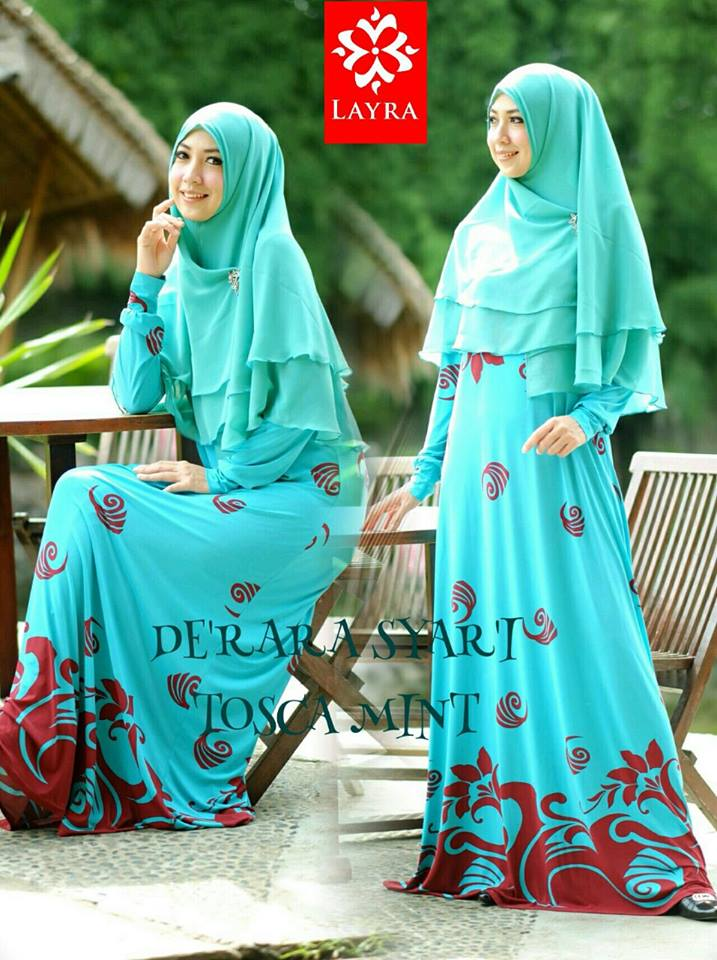 Busana Muslimah Modern Neo De'Rara Blue Sky