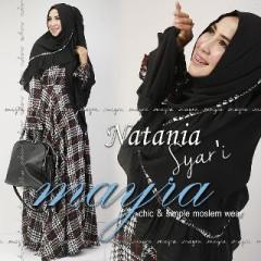 Busana Muslimah Terbaru Natania Syar'i by Mayra Hitam