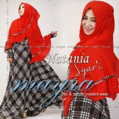 Busana Muslimah Terbaru Natania Syar'i by Mayra Merah