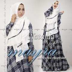 Busana Muslimah Terbaru Natania Syar'i by Mayra Putih