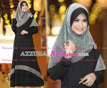 Busana Muslimah Wanita Syar'i Azzura by Naswanisa Hitam