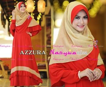 Busana Muslimah Wanita Syar'i Azzura by Naswanisa Merah