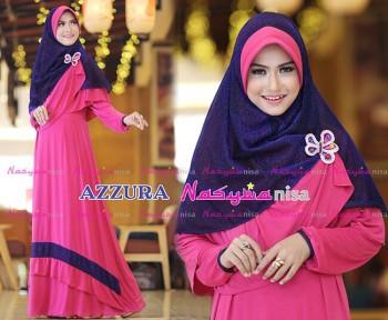 Busana Muslimah Wanita Syar'i Azzura by Naswanisa Ungu