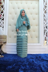 Koleksi Busana Mulim Terbaru Lily Syar'i by Margon Biru Tosca