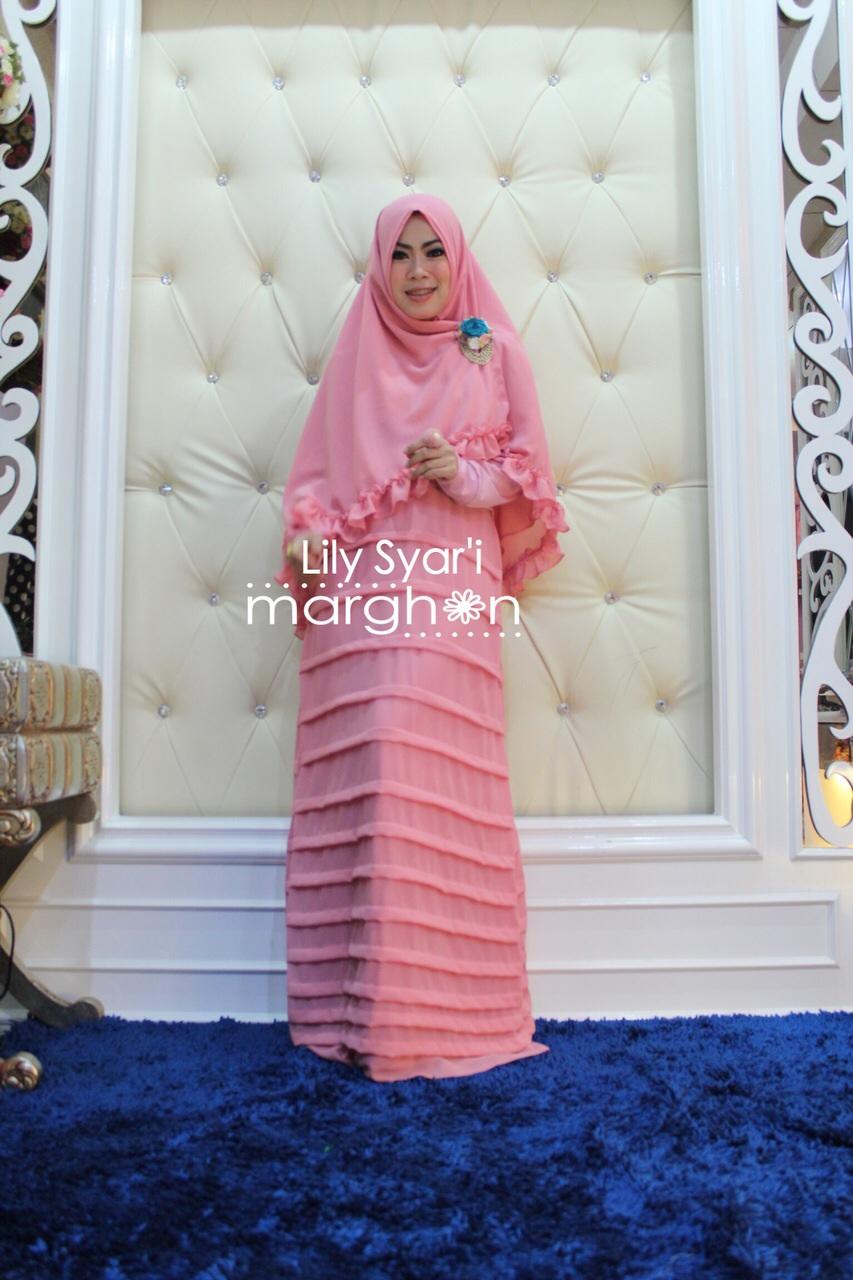 Koleksi Busana Mulim Terbaru Lily Syar'i by Margon Pink