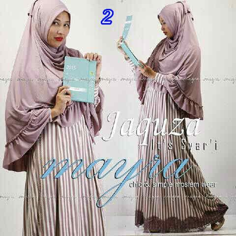 Koleksi Busana Muslim Syar'i Jaquza by Mayra 2