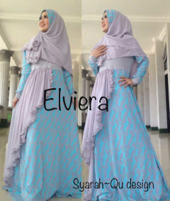 Koleksi Busana Muslim Terbaru 2015 Elviera vol.2 by Syarahqu Design Abu Tosca