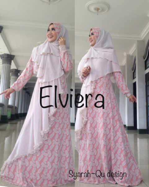 Koleksi Busana Muslim Terbaru 2015 Elviera vol.2 by Syarahqu Design Coksu Salem