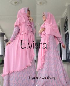 Koleksi Busana Muslim Terbaru 2015 Elviera vol.2 by Syarahqu Design Pink