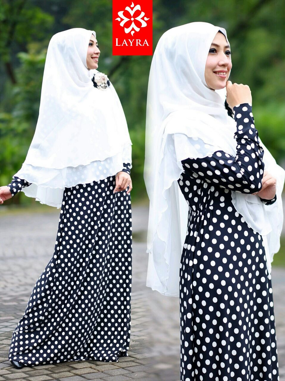 Koleksi Busana Muslim Terbaru De'key by Layra Hitam