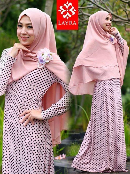 Koleksi Busana Muslim Terbaru De'key by Layra Pink