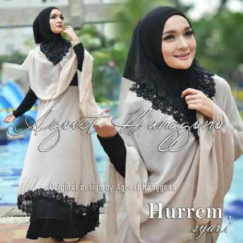 Koleksi Busana untuk Ibu Menyusui Hurrem Syar'i by Agoes Hanggono Khaki-Black