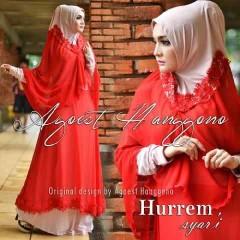 Koleksi Busana untuk Ibu Menyusui Hurrem Syar'i by Agoes Hanggono Merah