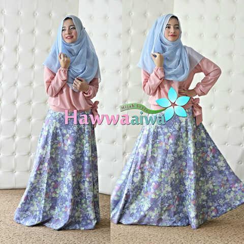 Koleksi Terbaru Busana Muslim Atas Bawah Zara by Hawwaaiwa Dusty Pink