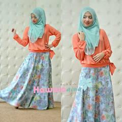 Koleksi Terbaru Busana Muslim Atas Bawah Zara by Hawwaaiwa Orange