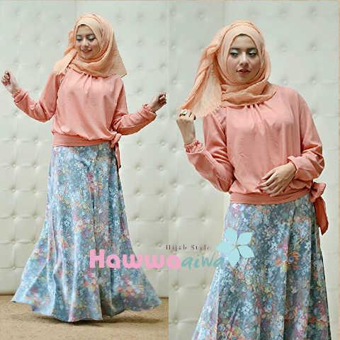 Koleksi Terbaru Busana Muslim Atas Bawah Zara by Hawwaaiwa Peach