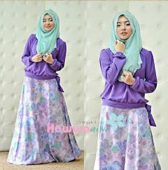 Koleksi Terbaru Busana Muslim Atas Bawah Zara by Hawwaaiwa Purple