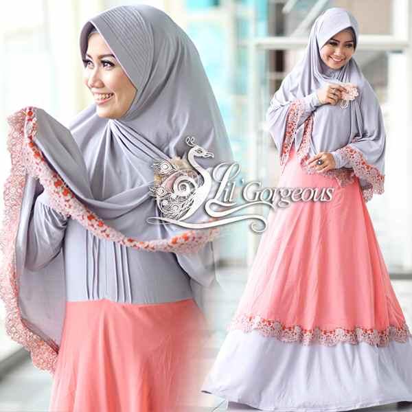 Koleksi Terbaru Busana Muslim Wanita Modern Renda Syar'i by Lil ...