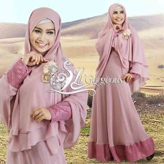 Model Terbaru Busana Muslim Syar'i Snow Dress Syar'i by Lil Gorgeous Pink