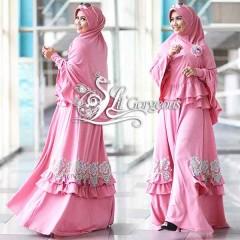 Trend Busana Muslim Syar'i Terbaru Fidha by Lil Gorgeous Pink